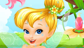 Baby Tinkerbell's Bath