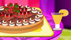 Decorate a cake with Barbie