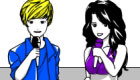 Justin Bieber and Selena Gomez coloring game