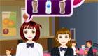 A cafe waitress