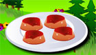 Making creme caramel for girls