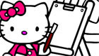 Hello Kitty Colouring Game