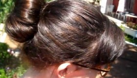 Crazy hair - How to style a beautiful bun using...a sock? (video)