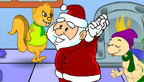 Santa's Christmas Animal Party