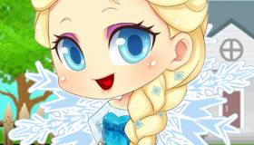 Frozen Flower Baby Elsa