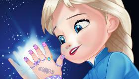 Baby Elsa Frozen Manicure