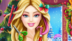 Barbie Christmas Real Haircuts