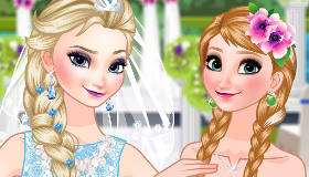 Bride Elsa and Bridesmaid Anna Frozen