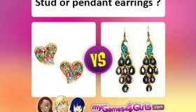 Which is the most stylish, stud or pendant earrings?