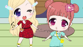Dress Up Chibi Twins
