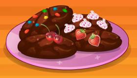 Chocolate Cookies Baking