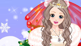 Christmas Bride Dress Up