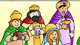 Color the Three Wise Men