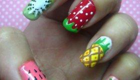 Summer Nails: Cute Fruit