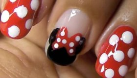 Minnie Mouse Nails - How To