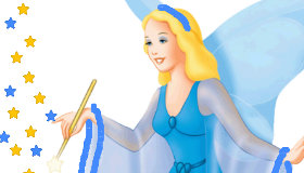 Painting a fairy