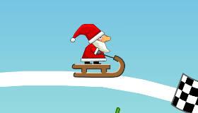 Santa Sledging Race