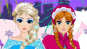 Anna and Elsa the Frozen Princesses