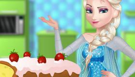 Elsa Baking Pound Cake