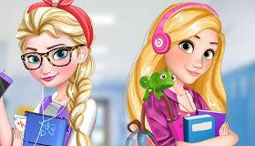 Elsa From Frozen And Rapunzel