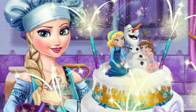 Elsa Wedding Cake Baking
