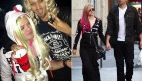 Avril Lavigne's ex dresses up as her!