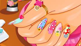 Pretty Spring Manicure