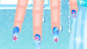 Elsa's Frozen Manicures