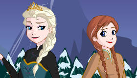 Anna and Elsa Frozen Sisters