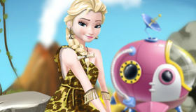 Elsa Frozen Stone Age Dress Up