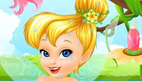 Baby Tinkerbell's Bath