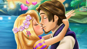 Rapunzel and Flynn Kissing