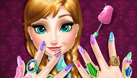 Frozen Anna Manicure Game