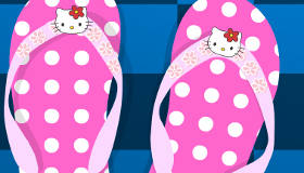 Decorate Hello Kitty Flip-Flops