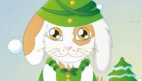 Christmas Rabbit Dress Up