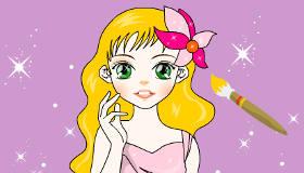 Painting Pretty Girl