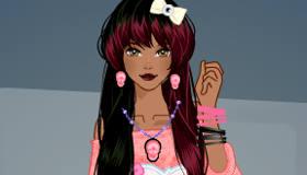 Pastel Goth Girl Dress Up
