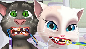 Talking Tom and Angela at the Dentist