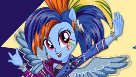 Rainbow Dash Rocking Hairstyle