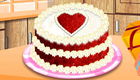 Valentine's Day Love Heart Cake
