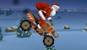 Motorbike Racing with Santa