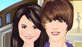Justin Bieber and Selena Gomez Go Shopping