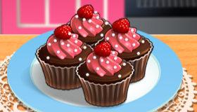 Sara Cooking Cupcakes