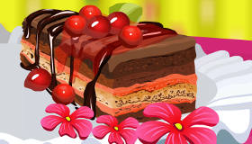 Cooking Cake with Cherries